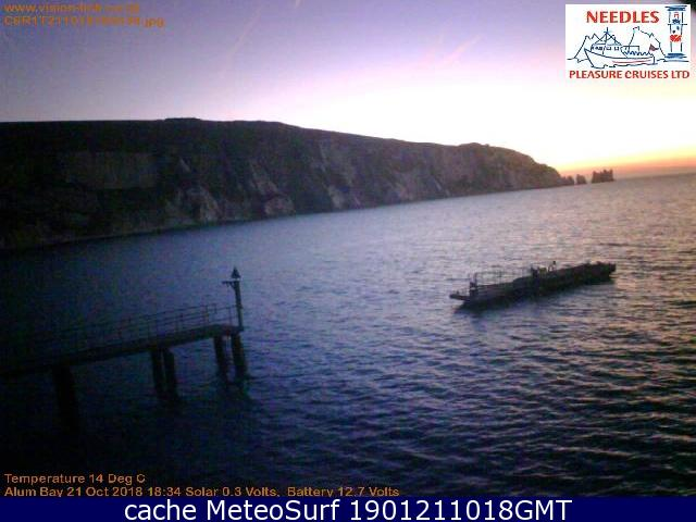 webcam Alum Bay Needles South East