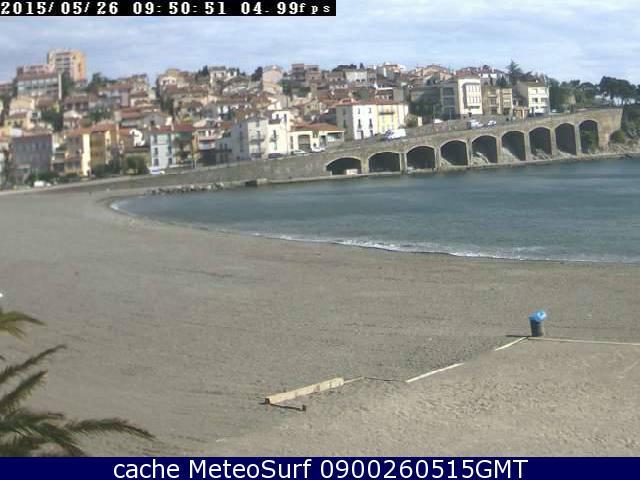 webcam Banyuls sur Mer Pyrénées Orientales