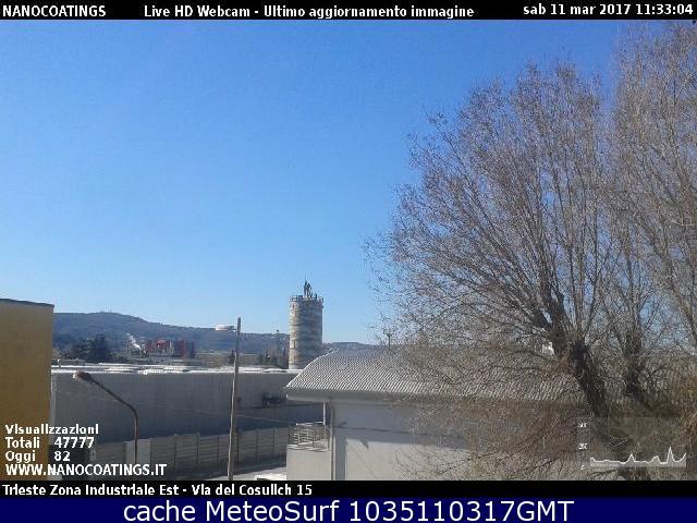 webcam Borgo San Sergio Trieste