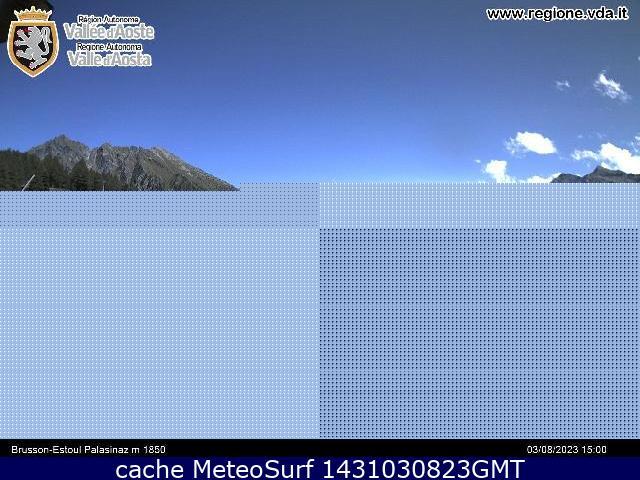 webcam Brusson Estoul Ski Valle d Aosta