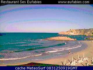 webcam Cala Tarida Islas Baleares