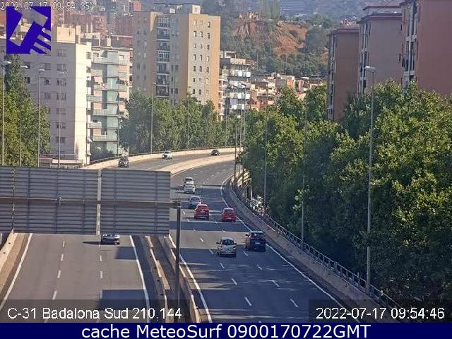 webcam Badalona Sur Barcelona