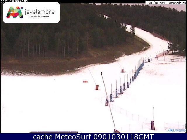 webcam Javalambre Nieve Teruel