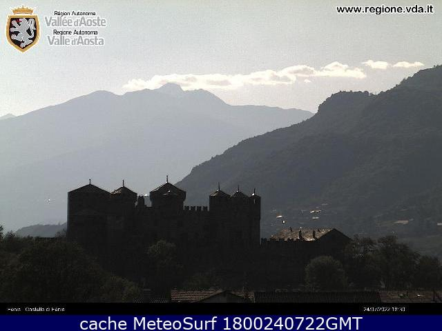 webcam Castello di Fénis Valle d Aosta