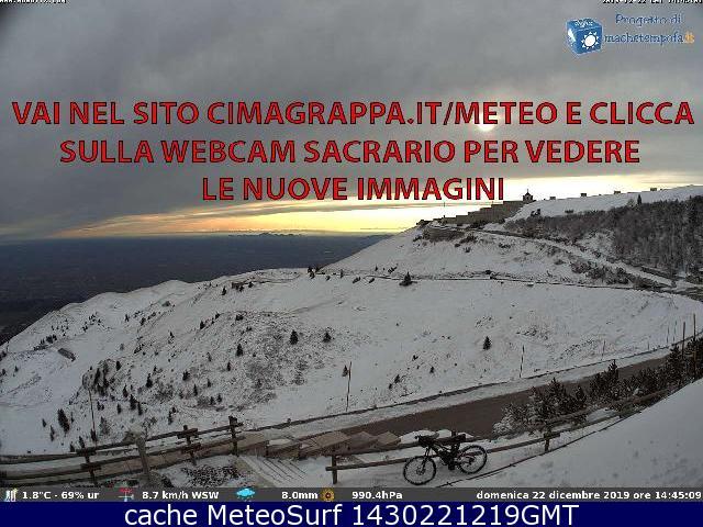 webcam Monte Grappa Treviso