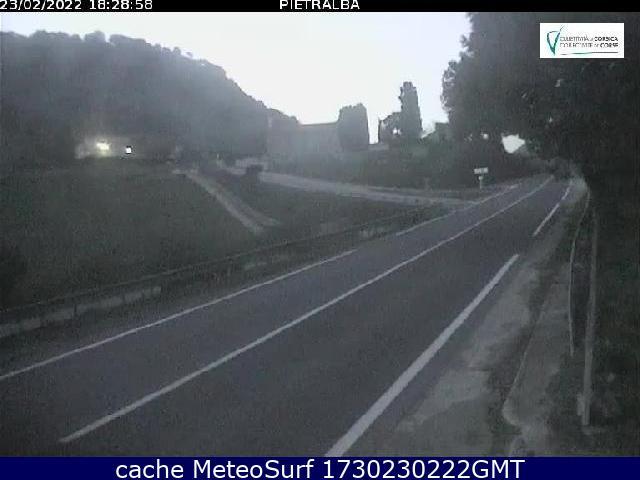 webcam Col de Pietralba Haute-Corse