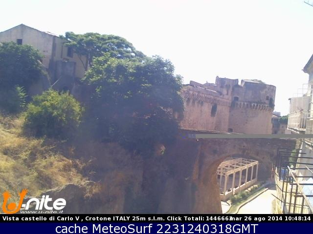 webcam Crotone Castello Crotone