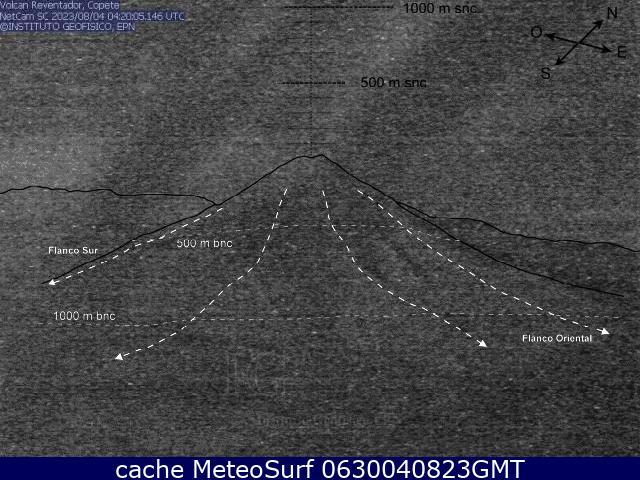 webcam Reventador El Chaco