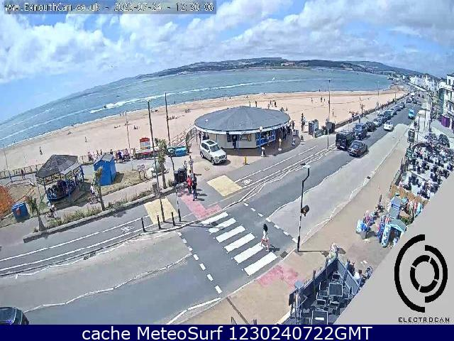 webcam Exmouth Beach South West