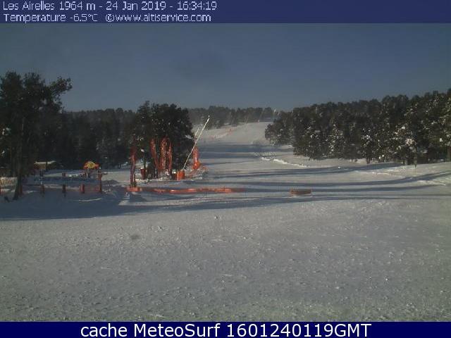 webcam Font Romeu Ski Pyrénées Orientales