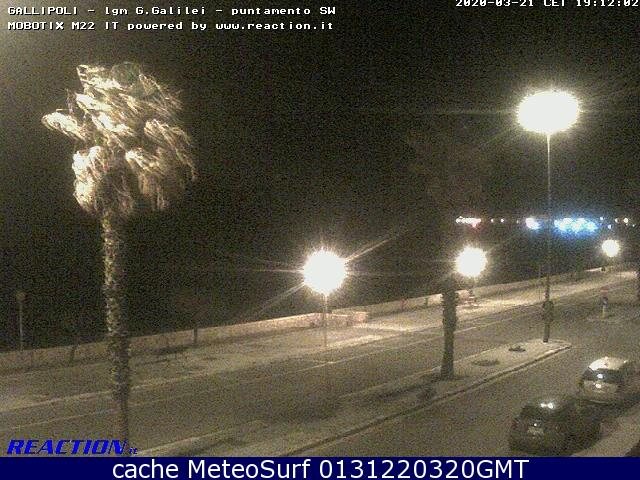 webcam Gallipoli SW Lecce
