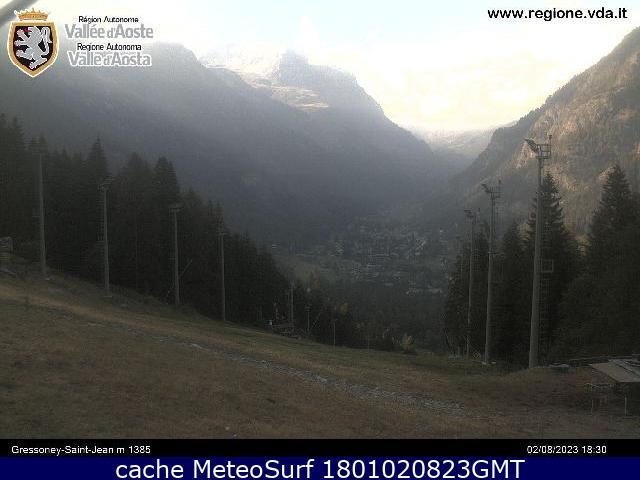 webcam Gressoney Saint Jean Ski Valle d Aosta