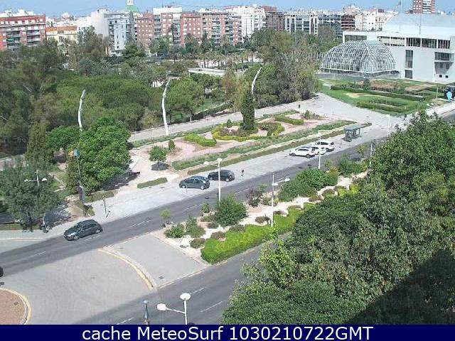 webcam Jardin del Turia Valencia