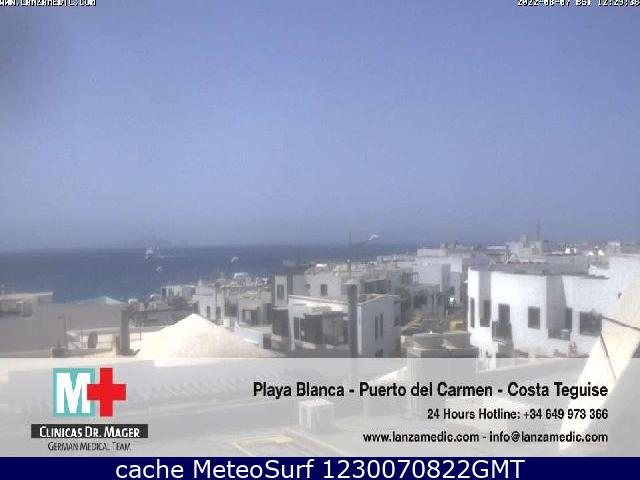 webcam Lanzarote Playa Blanca Las Palmas