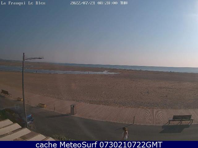 webcam La Franqui Aude
