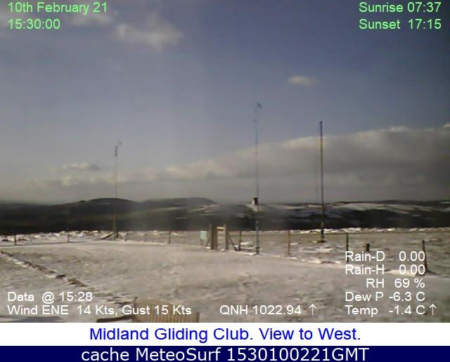 webcam Long Mynd Gliding West Midlands