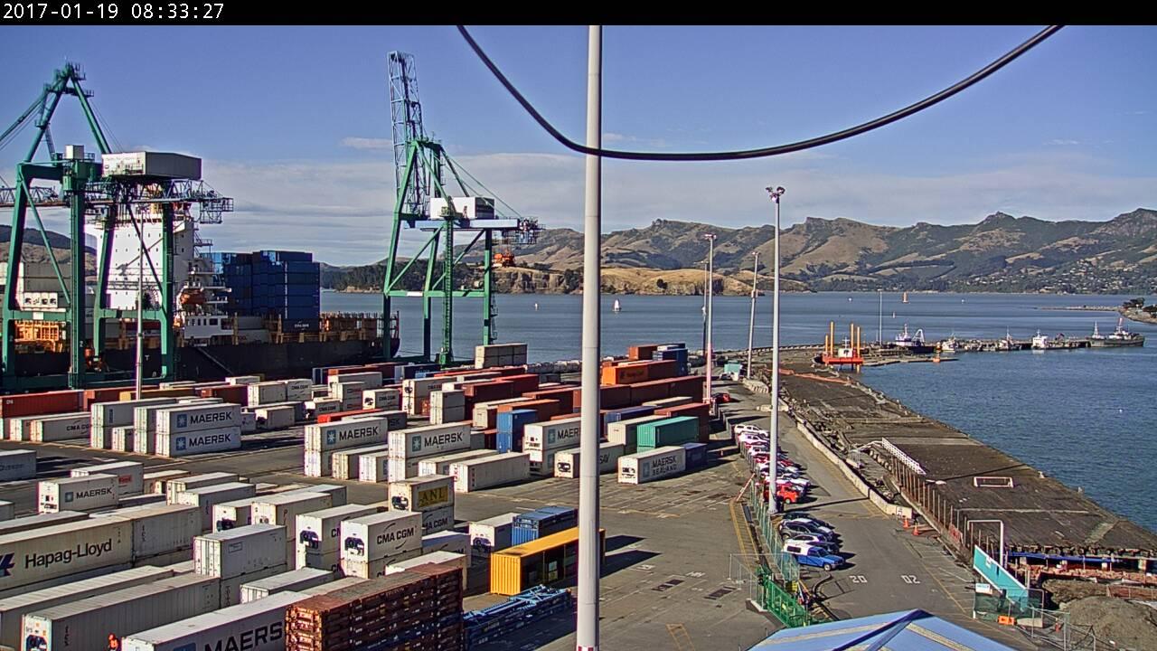 webcam Lyttelton Port Christchurch