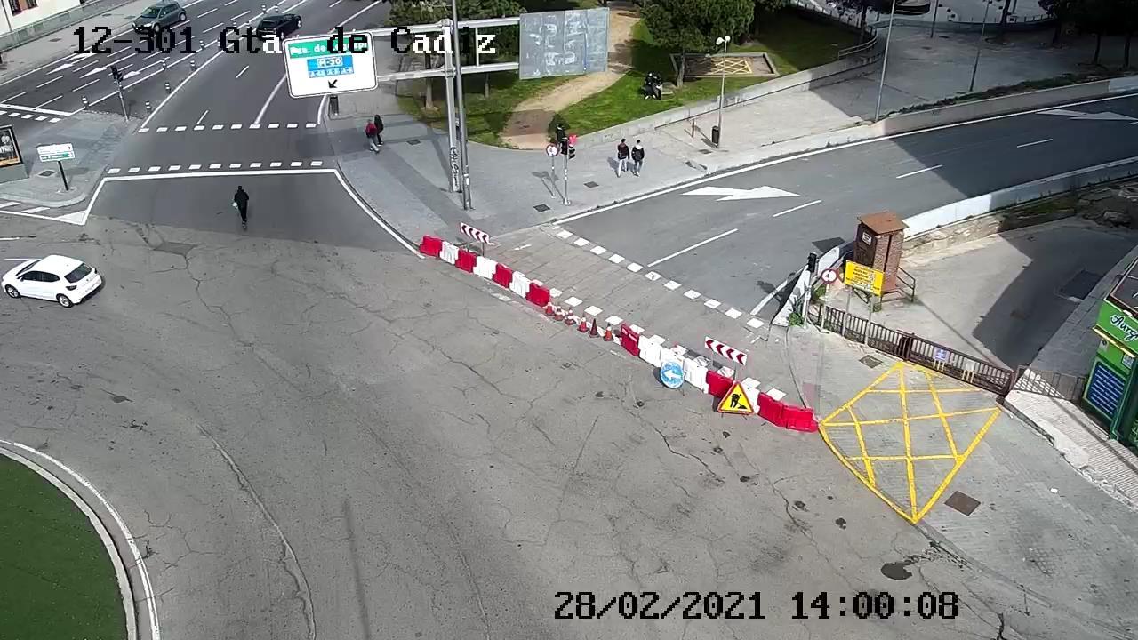 webcam M30 glorieta de Cádiz Ciudad de Madrid