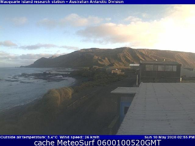 webcam Macquarie Island South-east Tasmania