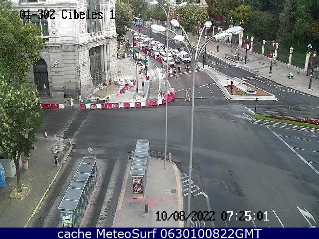 webcam Plaza de Cibeles Ciudad de Madrid