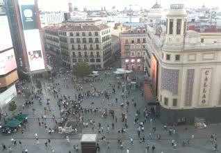 webcam Plaza Callao live Ciudad de Madrid