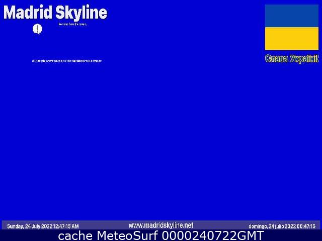 webcam Madrid Skyline Ciudad de Madrid