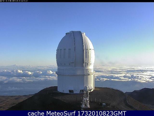 webcam Mauna Kea Observatory Hawái