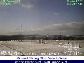Webcam Long Mynd Gliding