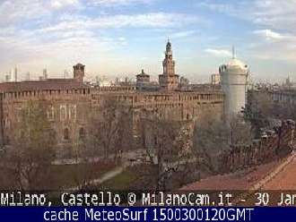 Webcam Milano Castello Sforzesco