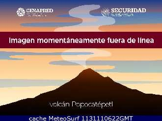 Webcam Volcan El Popocatepetl