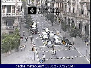 Webcam Gran Via Balmes Trafico