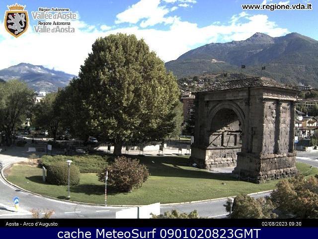 webcam Aosta Arco Augusto Valle d Aosta
