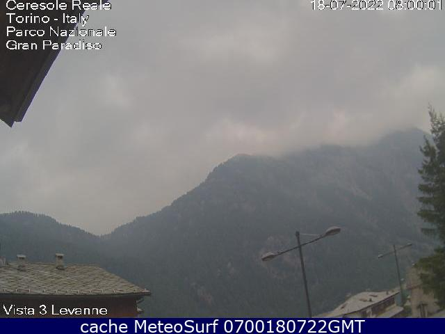 webcam Ceresole Reale Turín