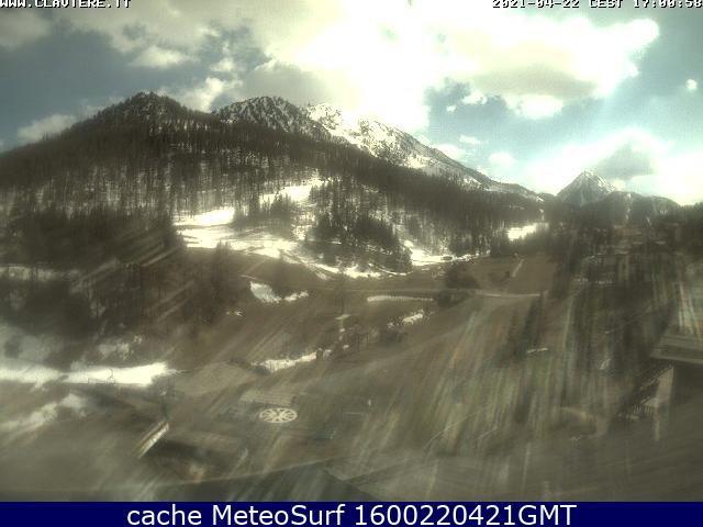 webcam Claviere Ski Turín