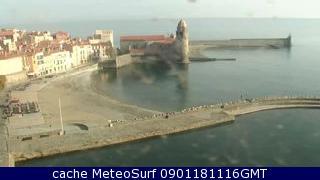 webcam Collioure Plage Pyrénées Orientales