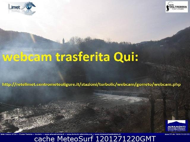 webcam Gorreto Genova