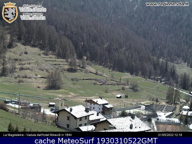webcam La Magdeleine Valle d Aosta