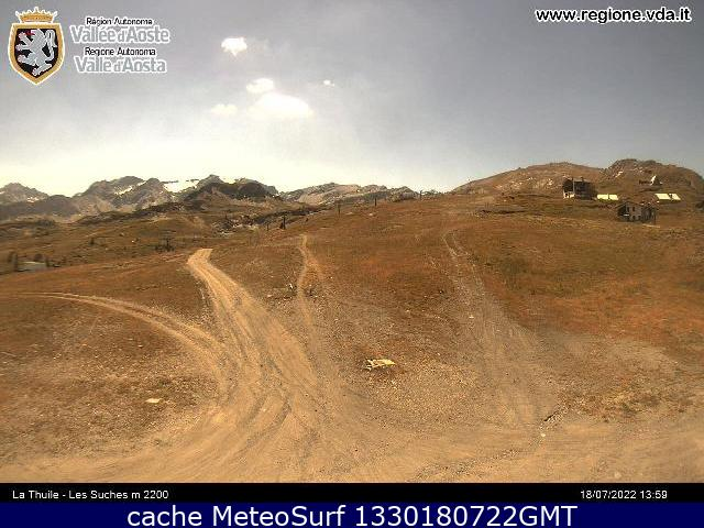 webcam La Thuile Ski Valle d Aosta