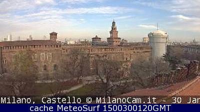 webcam Milano Castello Sforzesco Milán