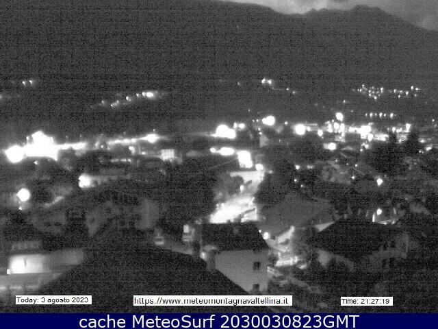 webcam Montagna in Valtellina Sondrio