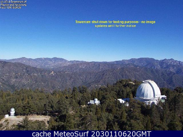 webcam Mount Wilson Observatory Los Angeles