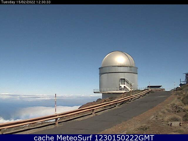 webcam Nordic Optical Telescope Santa Cruz de Tenerife