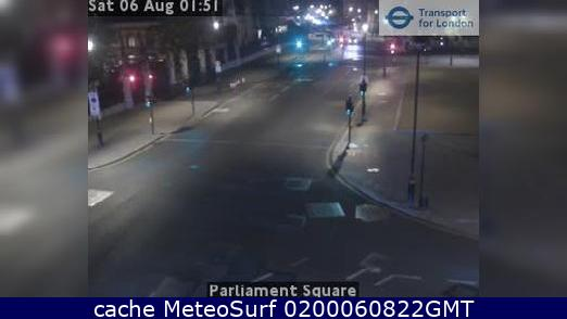 webcam Whitehall Parliament Square Londres