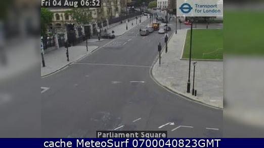 webcam Whitehall Parliament Square Londres