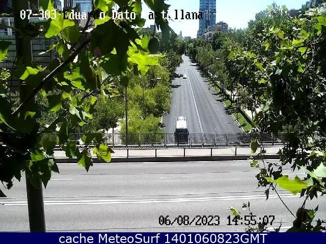 webcam Paseo de la Castellana Ciudad de Madrid