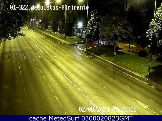 webcam Paseo de Recoletos Almirante Ciudad de Madrid