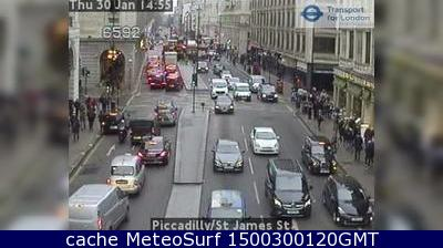 webcam Piccadilly London Londres