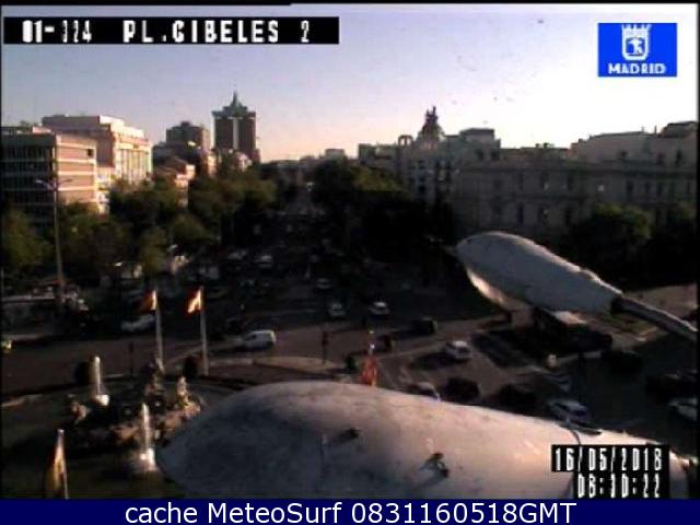 webcam Plaza Cibeles 2 Ciudad de Madrid
