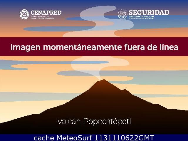 webcam Volcan El Popocatepetl Mexico