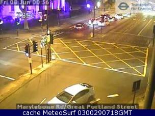 webcam London Portland Street Londres
